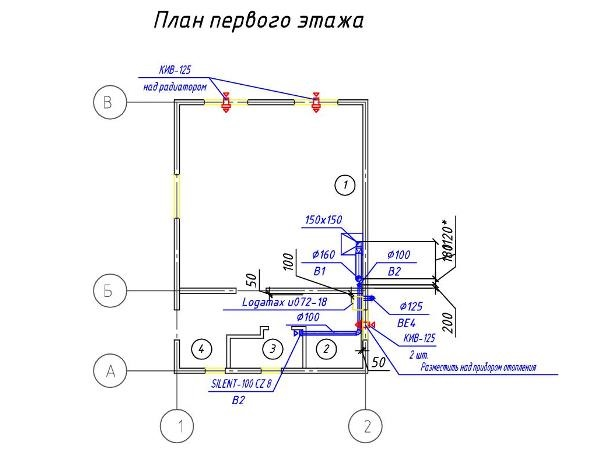 Недорогая приточно-вытяжная вентиляция в частный дом через приточные клапаны