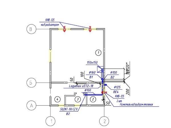 Приточно-вытяжная вентиляция в квартире с приточными клапанами